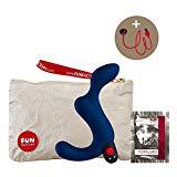 Fun Factory DUKE blau Prostata Stimulator Mann (inklusive Tasche + Gleitgel)