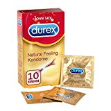 Durex Natural Feeling Kondome - Latexfreie Kondome für ein natürliches Haut an Haut Gefühl -  (1 x 10 Stück)