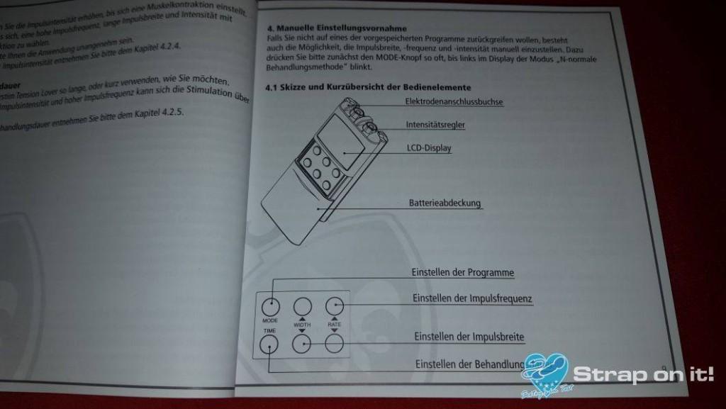 Elektrostimulationsgerät Mystim Tension Lover: Anleitung